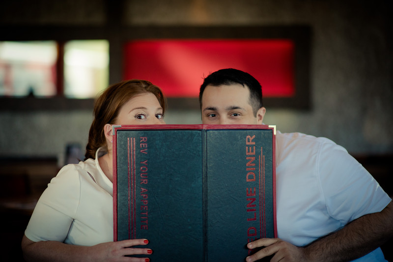 Diner Theme Fun Engagement Session