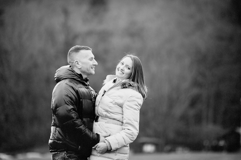 Winter Engagement Session Bear Mountain Park NY