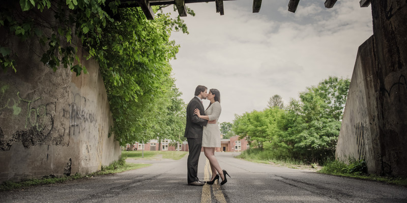 Abandoned Engagement Session Locations Hudson Valley NY