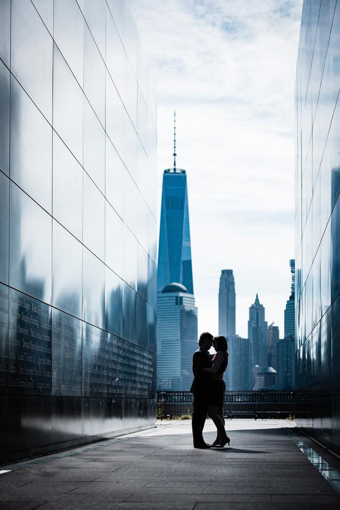 NYC Skyline Engagement Photos