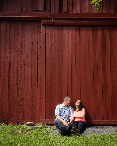Rustic Engagement Barn Photos