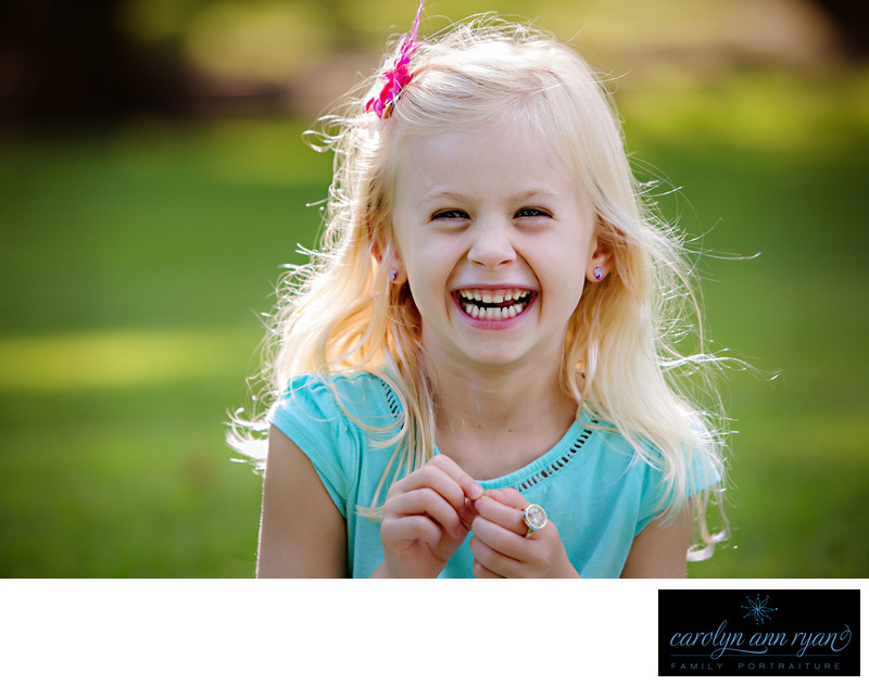 Charlotte Child Portrait Photographer Captures Giggles