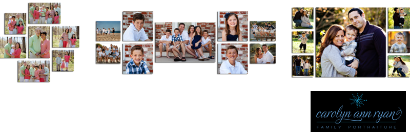 Family Portrait Canvas Cluster Design Ideas