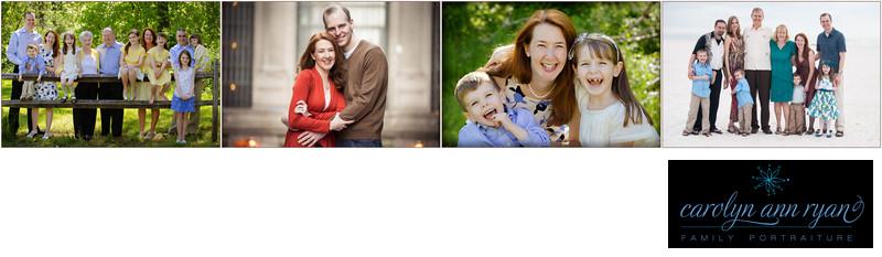 Family photographs highlighting Carolyn Ann Ryan