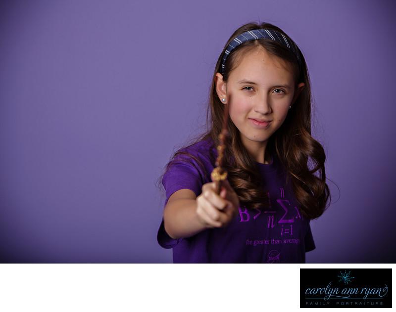 Harry Potter Wizard Inspired Tween Portraits Charlotte NC