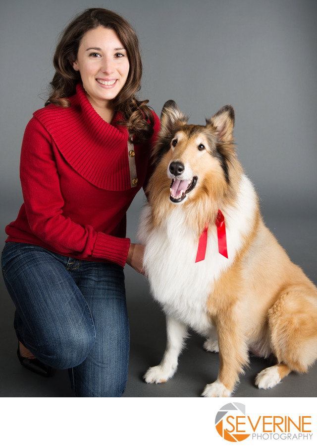 professional headshot for woman and their dog jacksonville