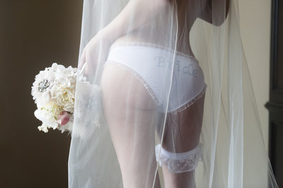 Bride in Bride Panties