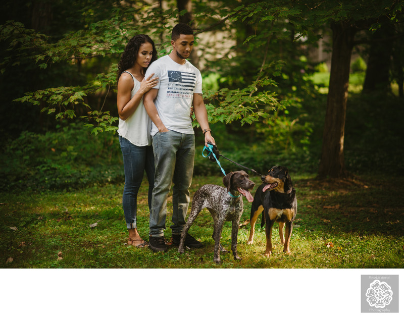 Engagement Session in the Woods in Northern Virginia