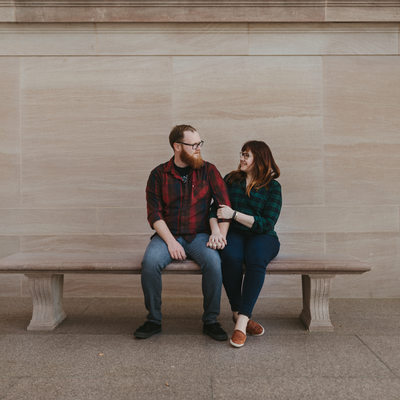 Engagement Session At the National Gallery of Art