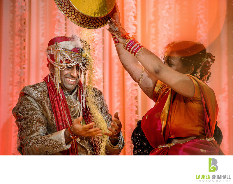 Indian Wedding Rice Dump