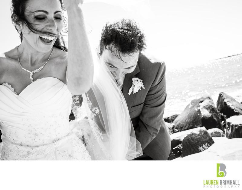 Windy Beach Wedding