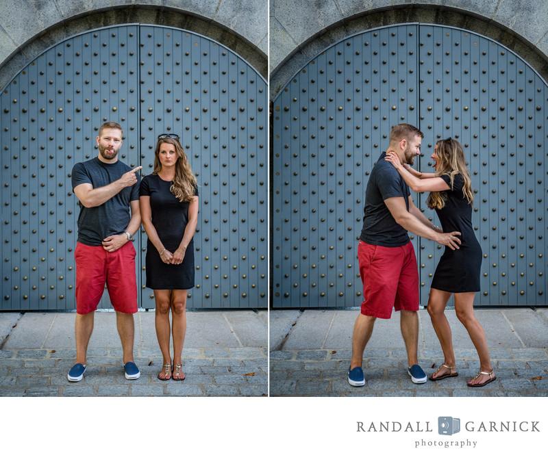 Boston engagement shoot Castle Island