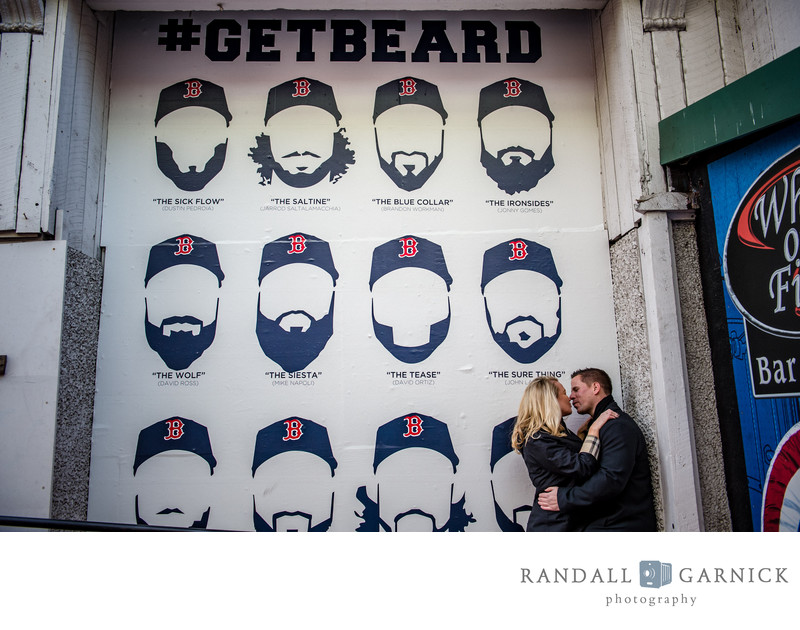 Fenway Park engagement photos