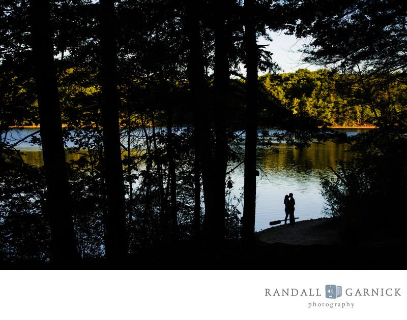 Walden Pond engagement photos