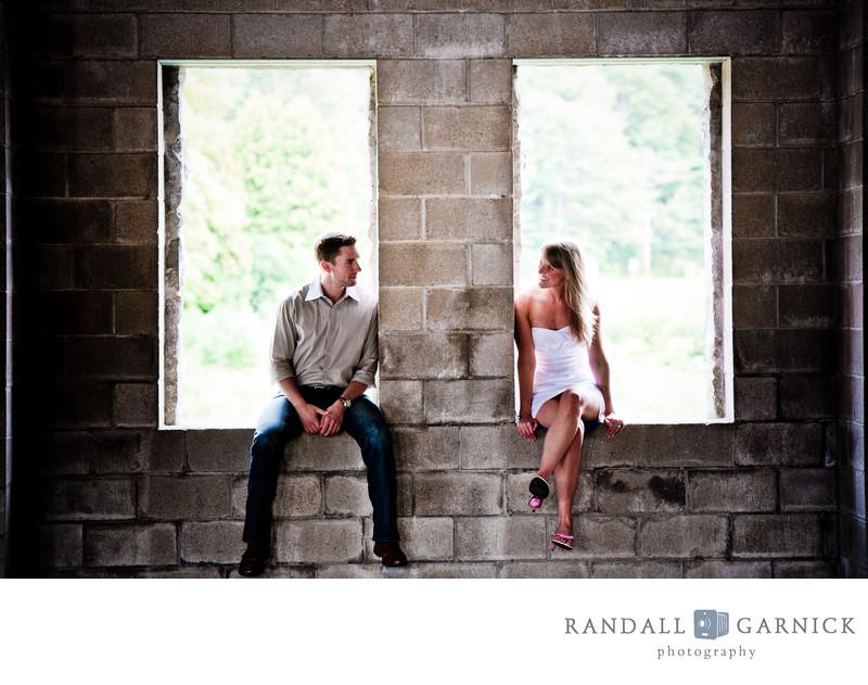 white dress engagement photo ideas