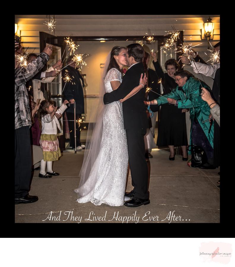 Sparkler Wedding Send Off Album Page