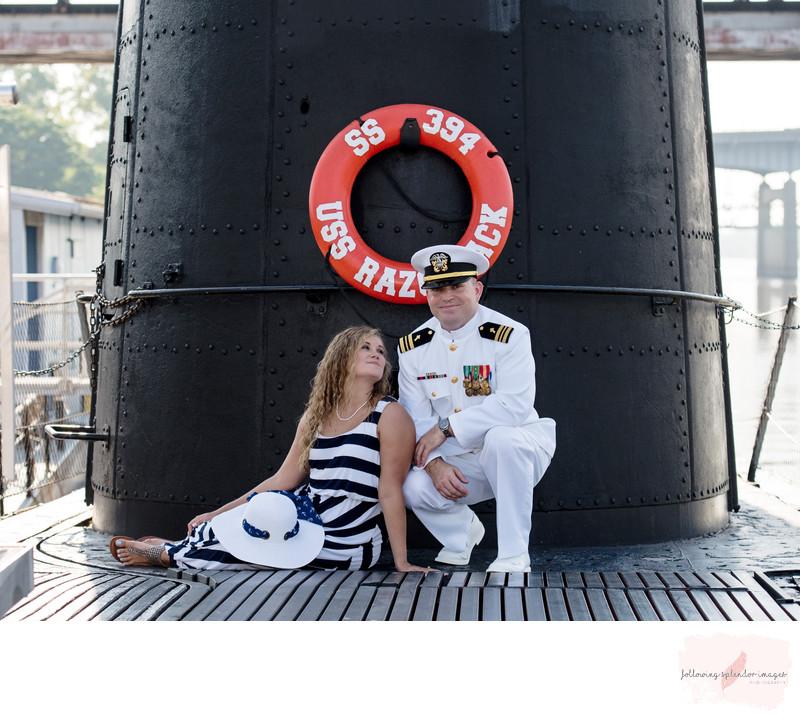 USS Razorback Submarine Engagement Session