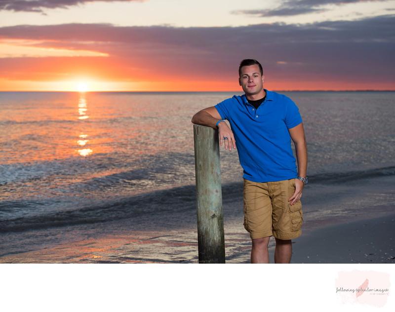 Sunset Senior Beach Photographer