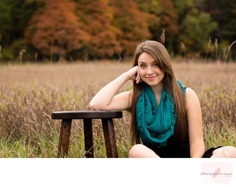 Fall Colors For Senior Portrait