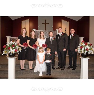 Wedding Party Portrait Album Page