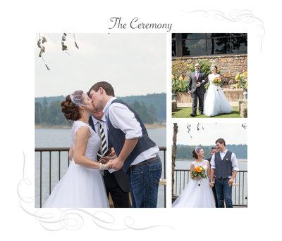 Degray Lake Wedding Ceremony Album Page