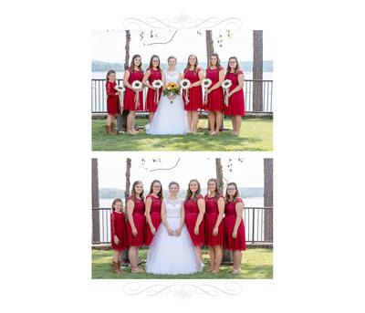 Bride And Her Bridesmaids Wedding Album Page