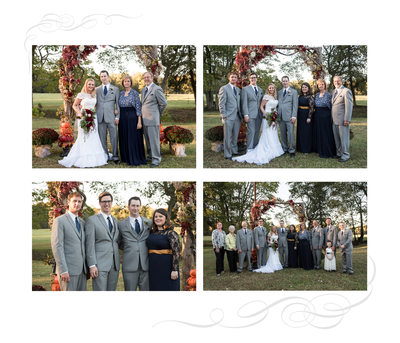 Carter Farm Wedding Album Family Page