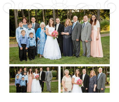 Indiana Wedding Album Family Page