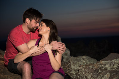 Sunset Engagement On Petit Jean Mountain