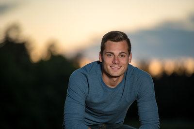 Senior Guy Sunset Portrait