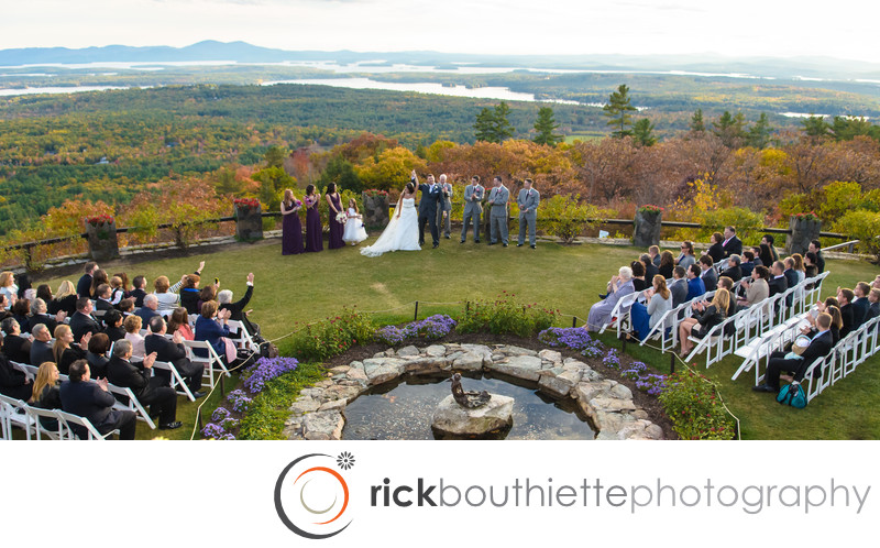 CASTLE IN THE CLOUDS WEDDING CEREMONY - NH FALL WEDDING