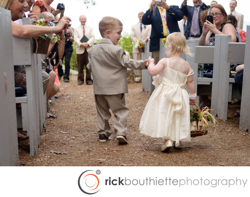 FLOWER GIRL & RING BEARER CHURCH ISLAND WEDDING CEREMONY