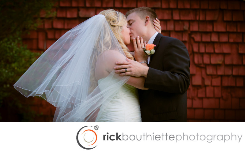 THE KISS - NEW HAMPSHIRE WEDDING PHOTOGRAPHY