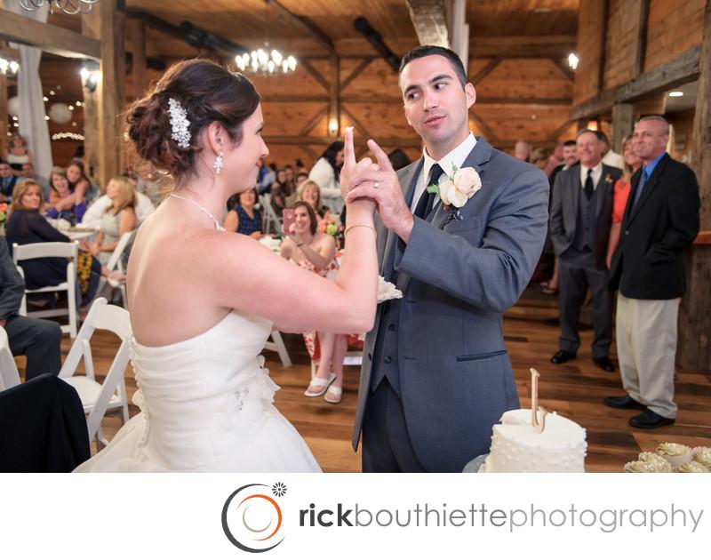 CAKE CUTTING - DELL-LEA WEDDING