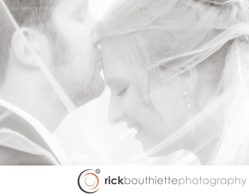 BRIDE KISSED BY GROOM  - NH WEDDING