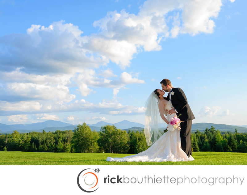 Mountain View Grand Resort Wedding - Dramatic Kiss