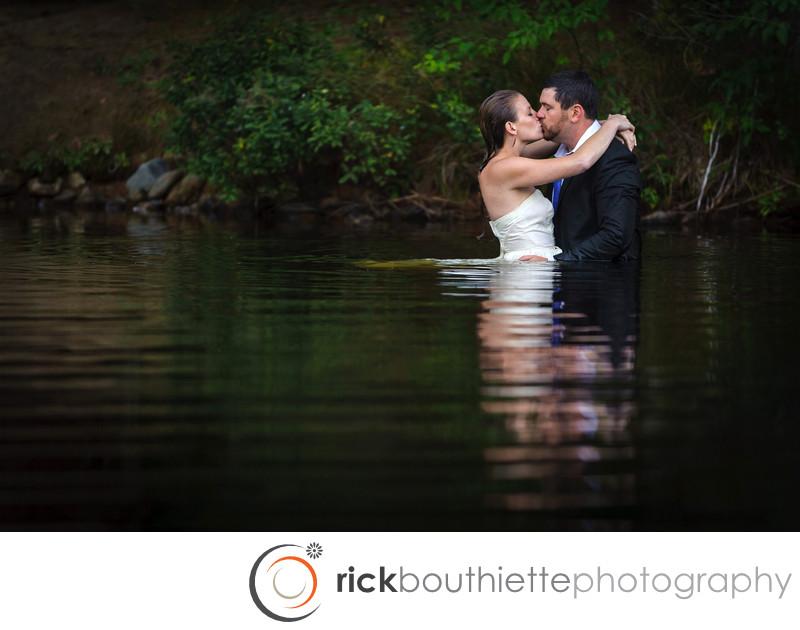 LOVE IN THE LAKE - NH WEDDING PHOTOGRAPHER