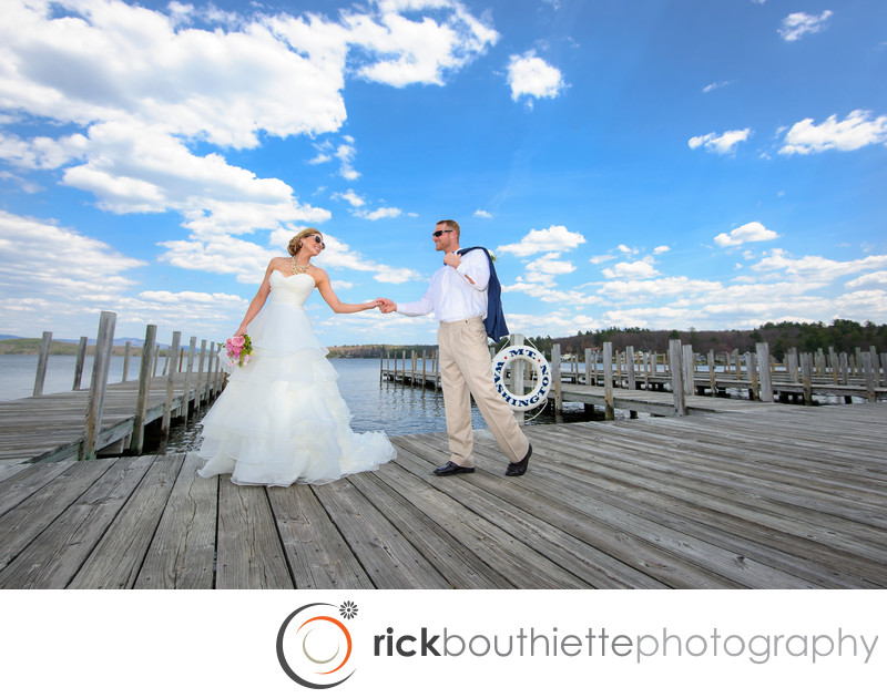 BRIDE & GROOM ON DOCKS - M/S MOUNT WASHINGTON WEDDING