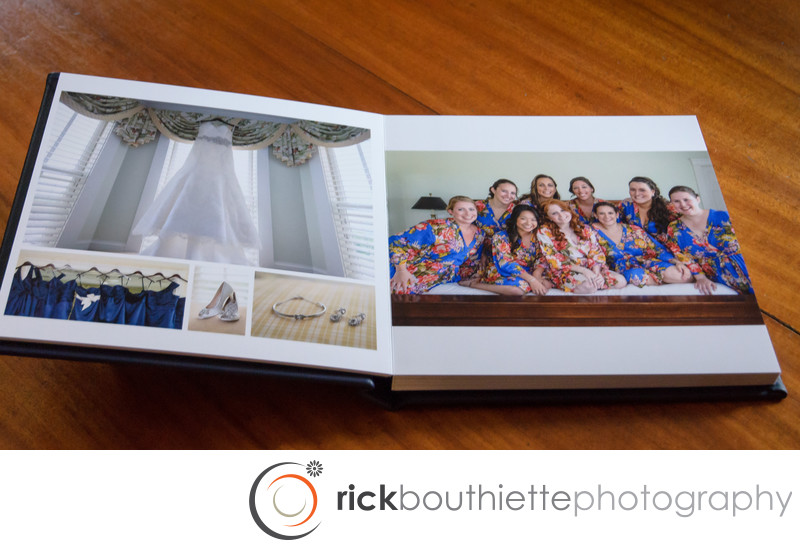 Flush Mount Wedding Album Girls Getting Ready