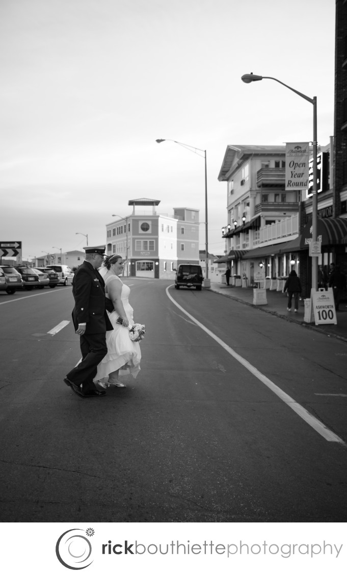 WALKING TO THE RECEPTION - ASHWORTH BY THE SEA WEDDING