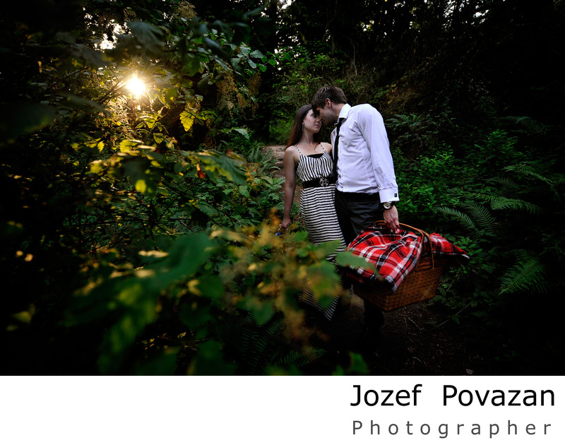 Vancouver romantic modern Engagement pictures of love