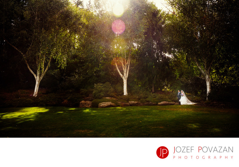 Modern Van Dusen Botanical Gardens Wedding photographer