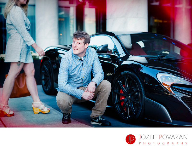 Fairmont Pacific Rim fast cars engagement Coal Harbour