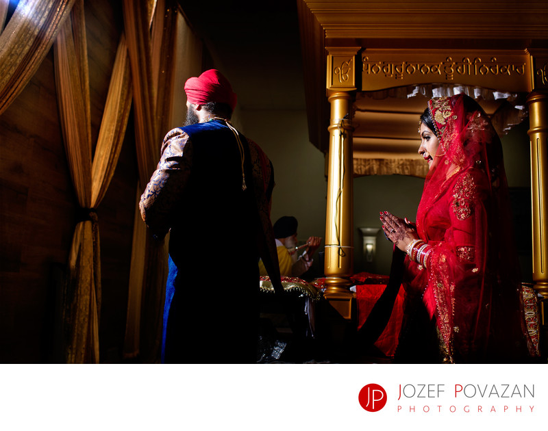 Indian Sikh Wedding ceremony Vancouver photographer