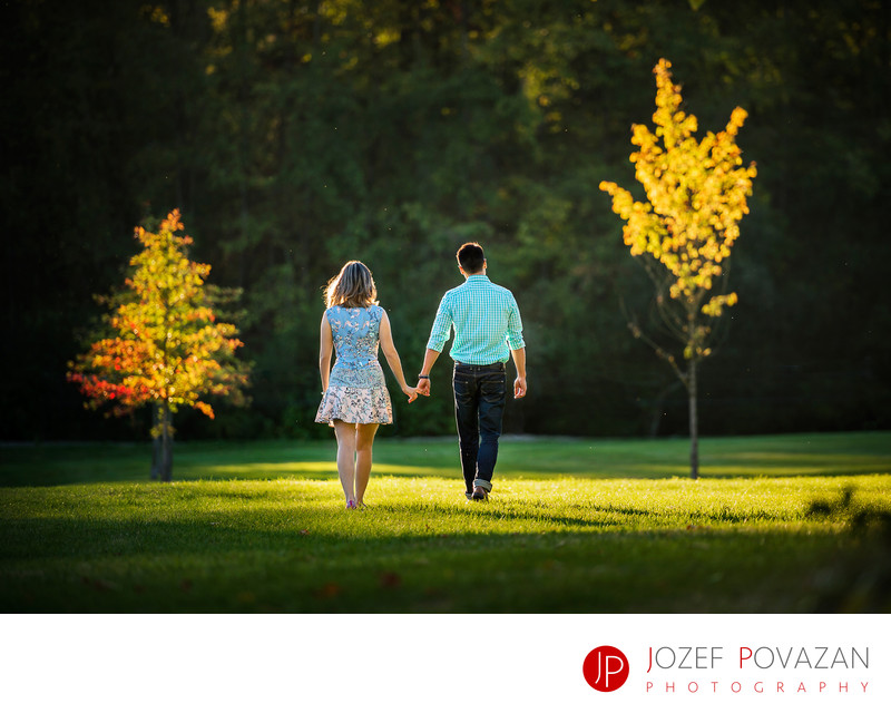 Vancouver Lifestyle Engagement Portrait Session in park