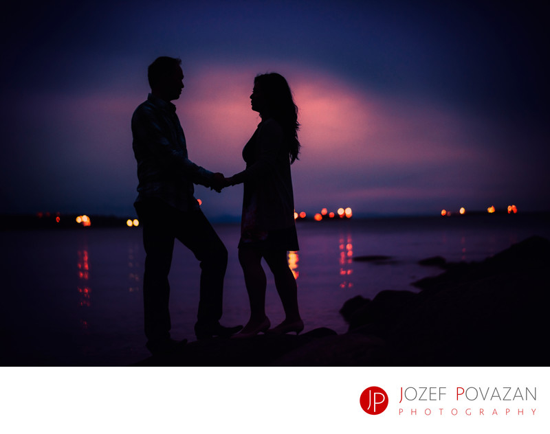 Vancouver Third beach Tea house sunset engagement dream
