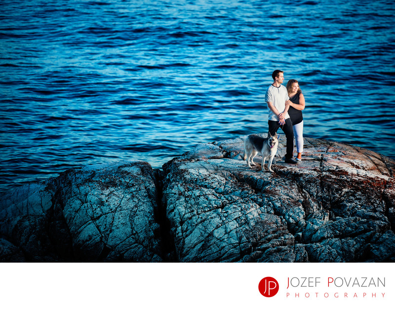 Drone Engagement Pictures Vancouver Lighthouse park
