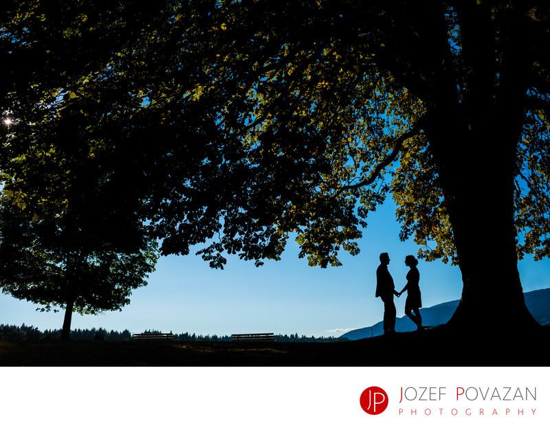 Creative Stanley park Engagement Wedding Photography