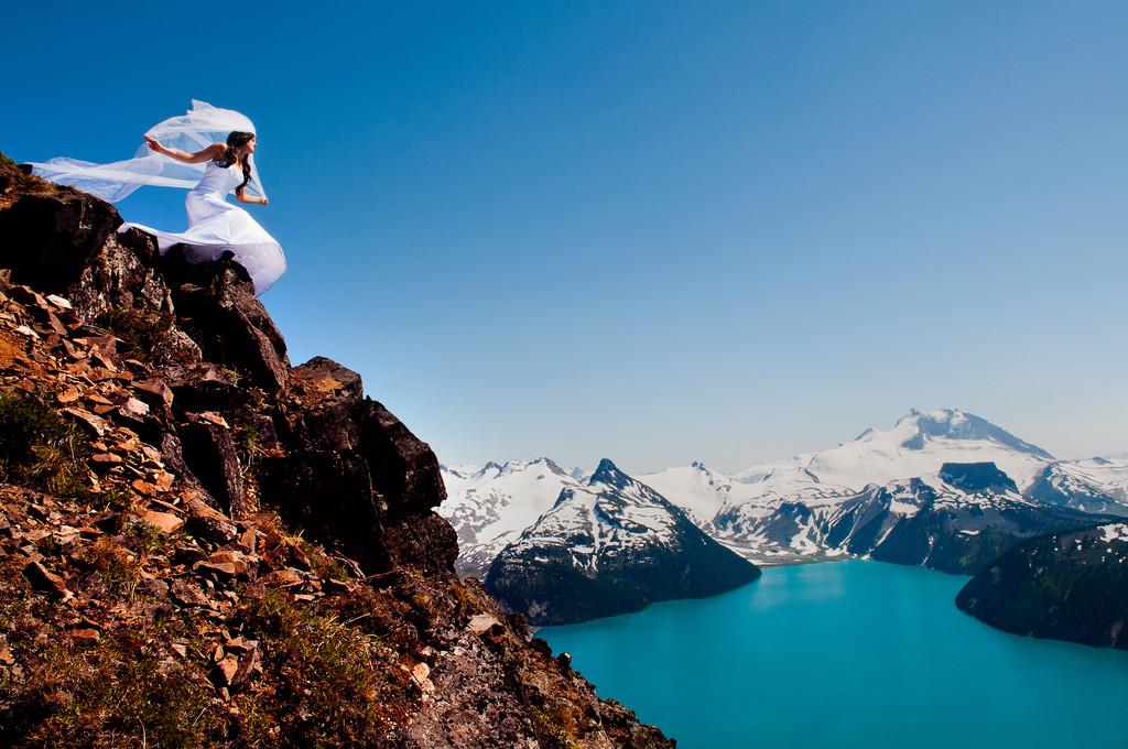 Garibaldi Lake Bride At Panorama Peak Near Whistler
