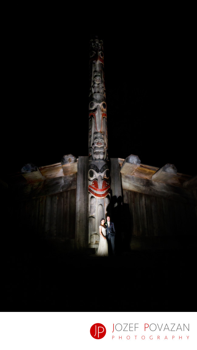 UBC Museum of Anthropology Wedding night reception fun